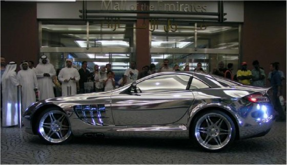SLR white gold race car
