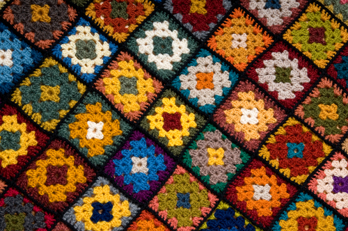 afghan wool patches