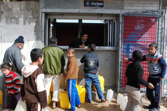 gaza water line polluted oxfam