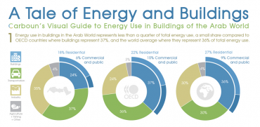 How Arab World Buildings Use Energy (Infographic)