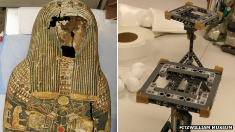 Egyptian Mummy Gets a LEGO Heart at Cambridge Universtiy