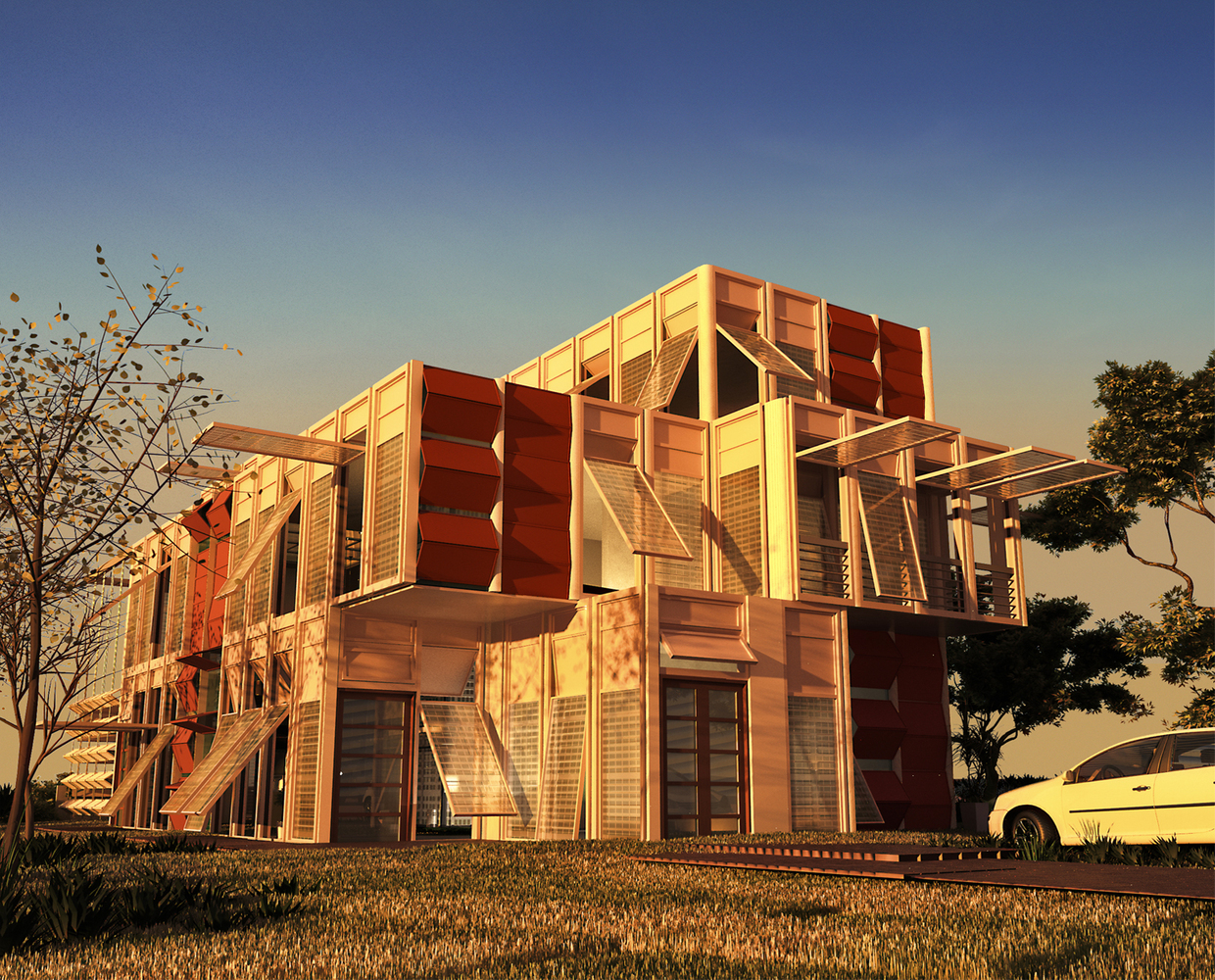 Oxygen Villa is One Giant Prefabricated Mashrabiya Home