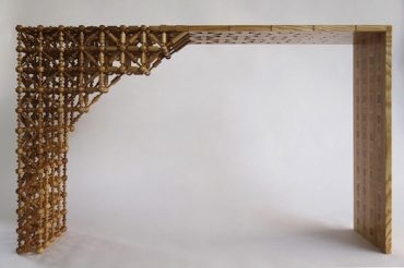 650 Handcrafted Oak Pieces Went Into This Fine Mashrabiya Table