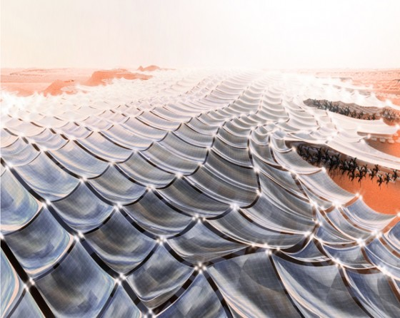 cleantech, solar power, desert, Arabian Peninsula, solar canopy, Powerscape, Otto Ng
