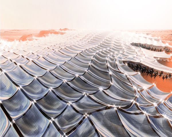 Inflatable Solar Canopy to Power the Arabian Peninsula?
