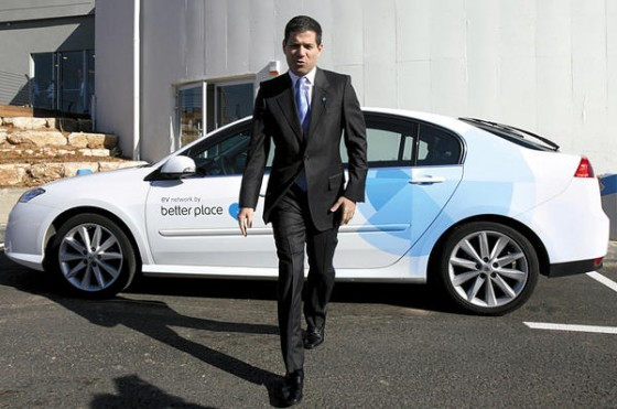 Better Place founder Shai Agassi and the Renault Fluence ZE Salon