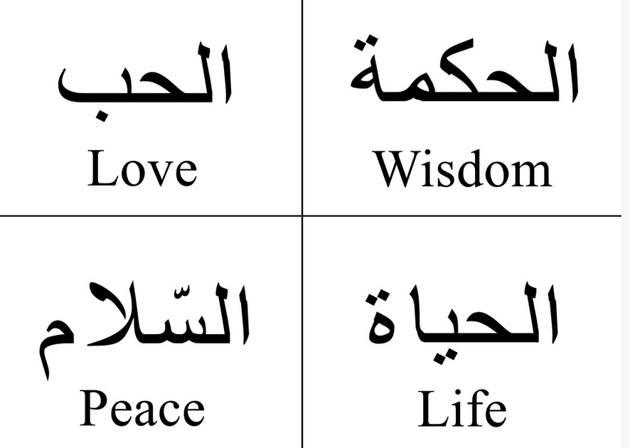 arabic to english wisdom love life peace green prophet. Black Bedroom Furniture Sets. Home Design Ideas