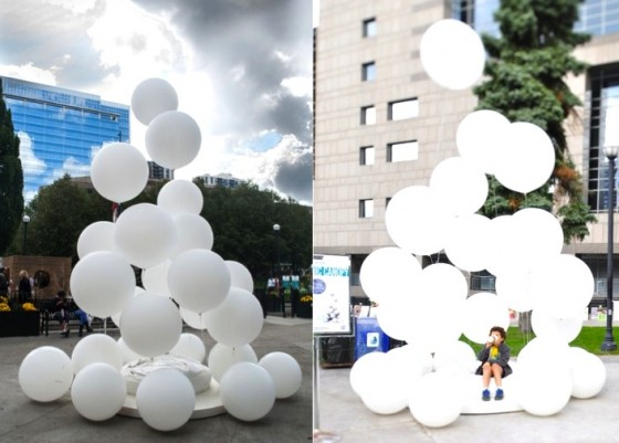 Embryonic Canopy, seed bomb, biodegradable balloon, Sukkah, Jewish Holidays, Architecture, Agriculture, Green Design, Urban Design