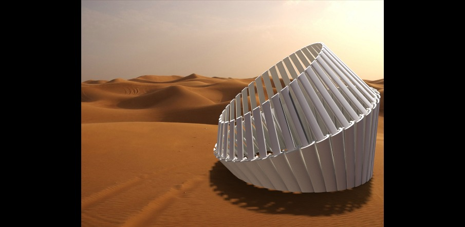 Roll-up 'Shade and Shelter' Cardboard Protects Desert Dwellers