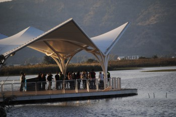 floating bird observatory hula valley israel