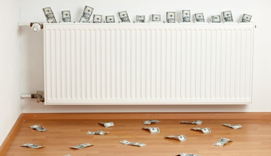 radiator energy savings, dollar bills