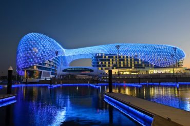 5-Star Yas Hotel Lit Up by a Dazzling Crown of 5,000 LED Panels
