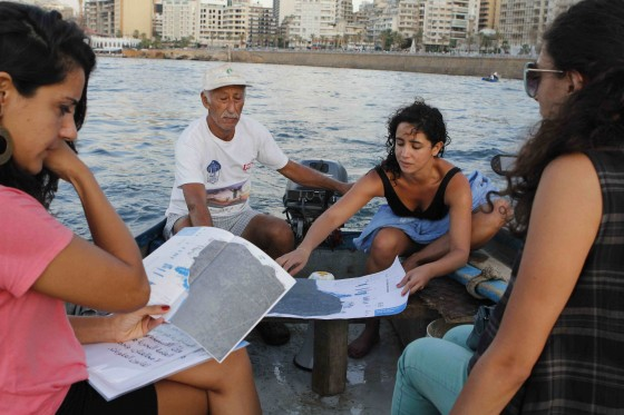 Abir Saksouk, Adnan El-Oud, Tania El Khoury, and Petra Serhal explain the parody of Beirut's seashore