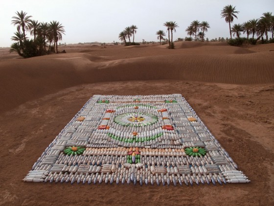 recycled materials, WE MAKE CARPETS, Taragalte Festival, Morocco, eco design, plastic carpet, bottle carpet