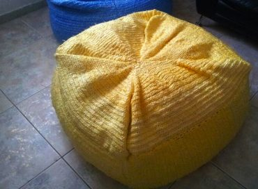"Fruitful Fusion ""Trochets"" Bean Bags from Trash"