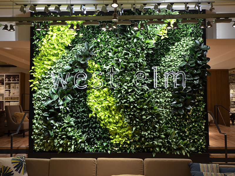 West Elm's Living Green Wall is a First in Kuwait