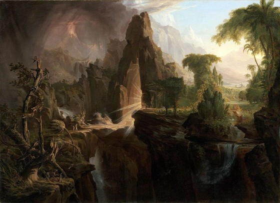 Cole Thomas Expulsion from the Garden of Eden 1828 painting