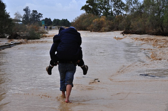 Biblical Flood Swamps Tel Aviv and Fills Reservoirs