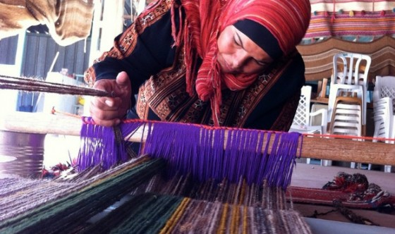 lakiya sidreh weaving workshop with bedouins
