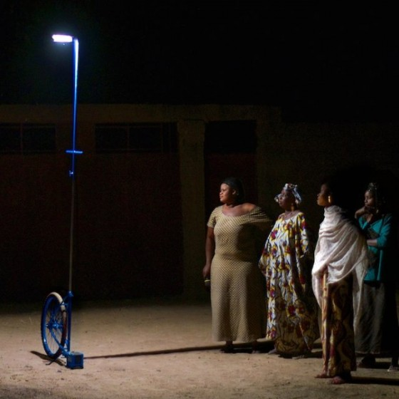 mali, foroba yelen, collective light, solar powered lamp, lamp made from bike parts, mobile lamps, Matteo Ferroni
