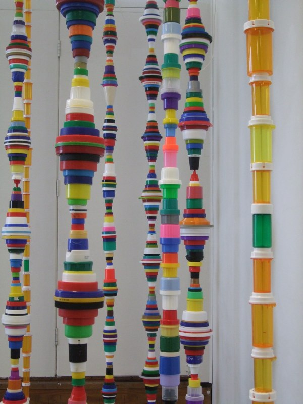 Garbage art ideas from mary ellen croteau green prophet for Art out of plastic bottles