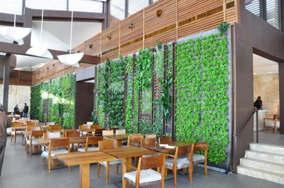 Soaring Vertical Garden Greens Al Sultan Ibrahim Restaurant In Lebanon on office cube walls