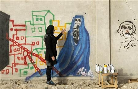malina suliman graffiti in afghanistan