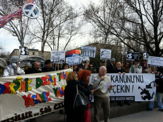turkey environment protest against Nature law