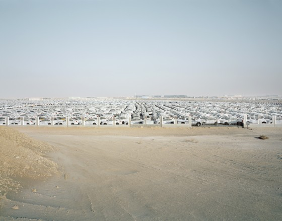 art, photography, Richard Allenby-Pratt, Consumption, Car Consumption, Dubai, Chevrolet, 8000 White Chevrolet, Jebel Ali, Freezone, environmental art