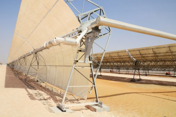 cleantech, Masdar, Shams 1, World's Largest CSP plant, solar power, renewable energy,