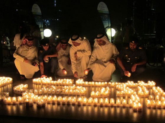 Earth Hour in Abu Dhabi UAE