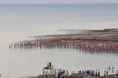 naked israel tunick dead sea