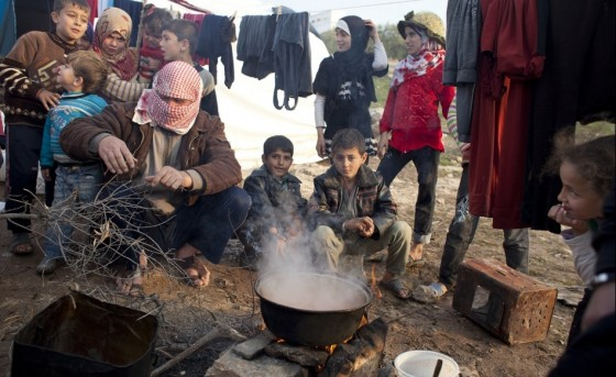 syria refugees cooking in Jordan