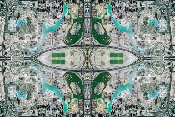 David Thomas Smith's Persian Carpets Made from Google Maps , Burj Khalifa as a Persian Rug