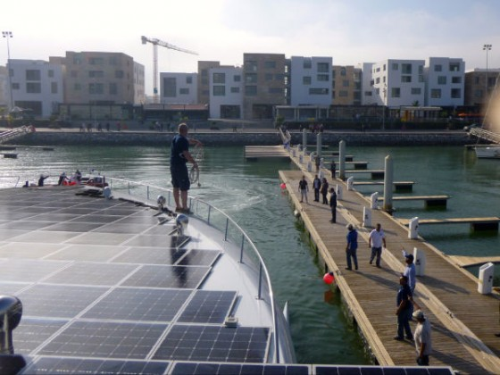 PlanetSolar, world's largest solar-powered boat, Morocco, Rabat, clean tech, clean energy, renewable energy,