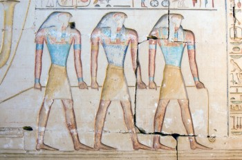 Egyptian blue painting