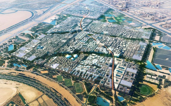 masdar city, zero energy in Abu Dhabi illustration