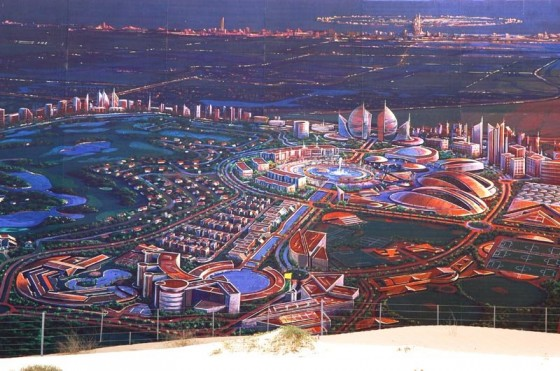 Futuristic Dubailand Theme Park City Growing Ahead With