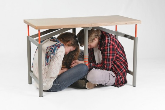 Bezalel Academy, Earthquake Table, MoMA, green design, natural disasters, sustainable design, eco-design, Israeli design