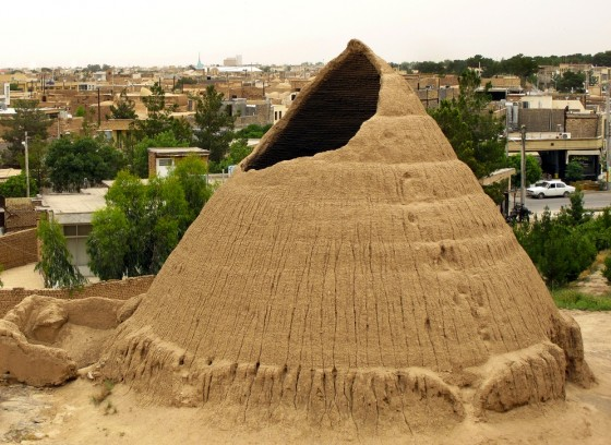 architecture, ancient ice house of iran, desert, refrigeration, design, sustainable design, earth construction, natural building