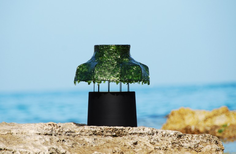 Green lighting israeli designers green design from israel seaweed lamp marine light
