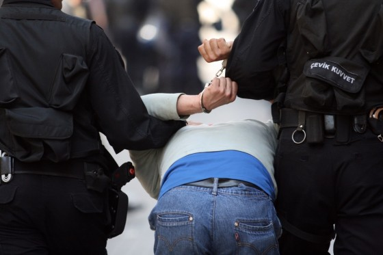 Turkish protestor under arrest