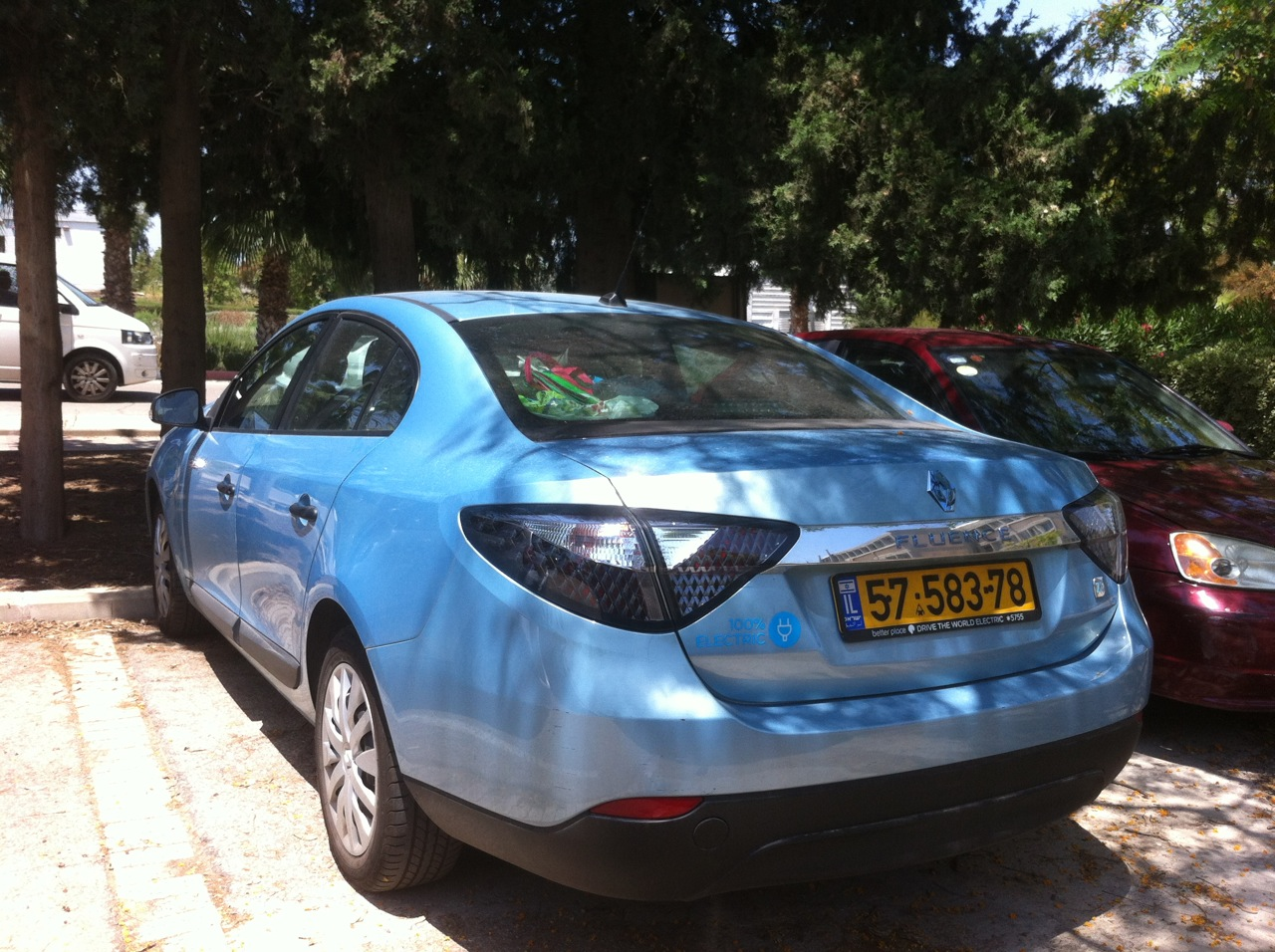 better place electric car Israel