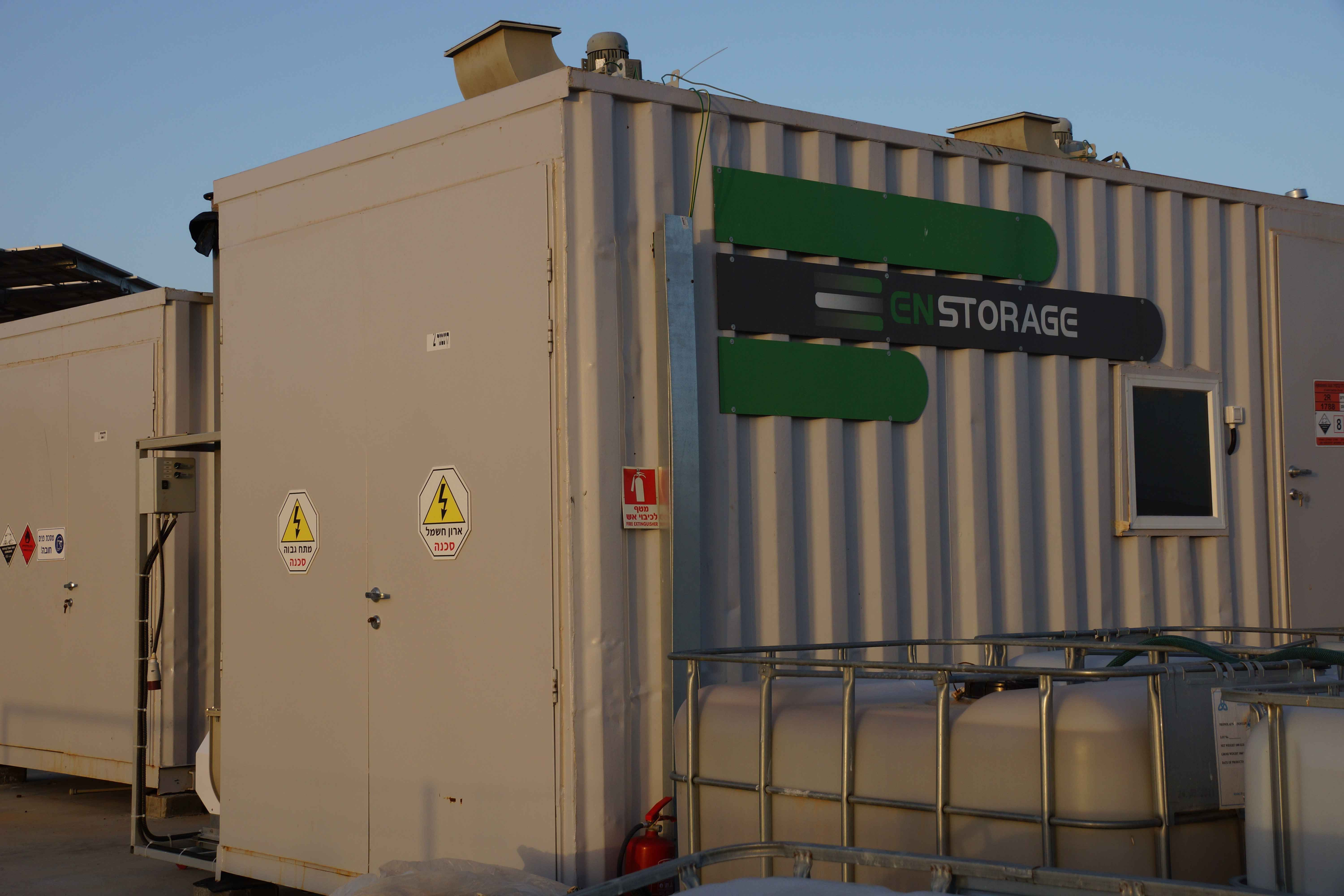 enstorage 50KW demonstrator HBr battery storage