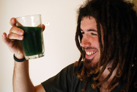 image diy spirulina algae drink ,tom vered