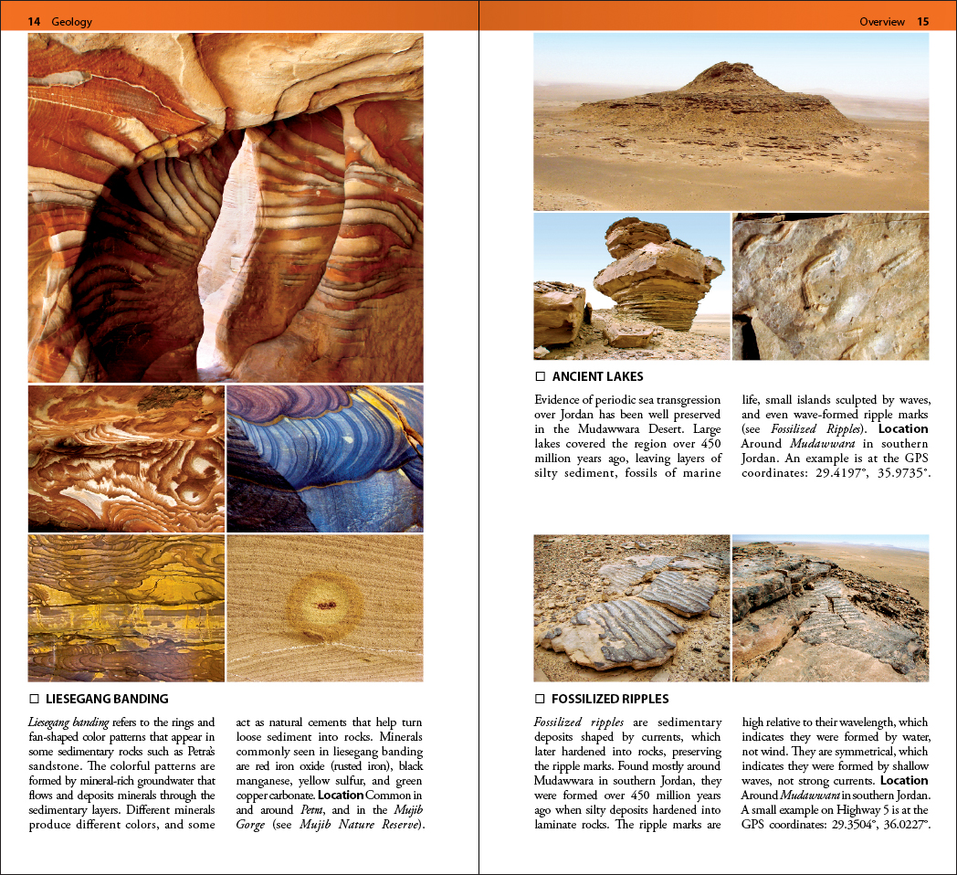 Jordan Geology field guide book