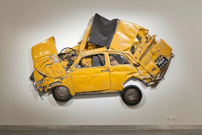 Ron Arad Immortalizes Six Fiat 500s by Crushing Them for Israeli Art Exhibit
