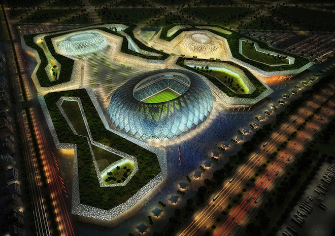 Zaha Hadid, World Cup 2022, Qatar, AECOM, solar power, green design, cleantech,