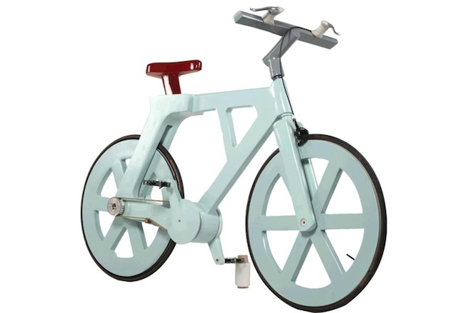 cardboard bike, recycled materials, green transportation, cycling, social design, green design, Israeli design, crowd funding, Indiegogo cardboard bike campaign
