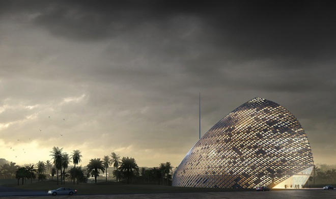 ARPT Headquarters, Mario Cucinella Architects, Islamic Design, Algiers, Algeria, green design, bioclimatic design, natural cooling, desert architecture